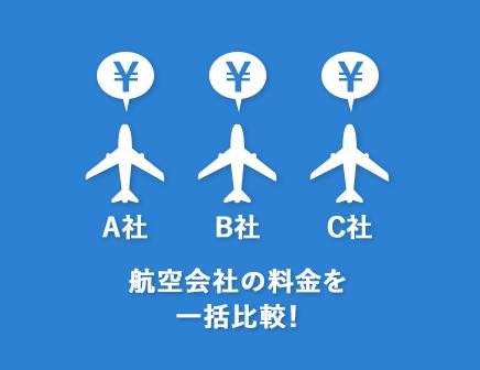 ダイナミックパッケージ:航空会社の料金を一括比較