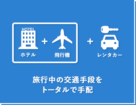 ダイナミックパッケージ:旅行中の交通手段をトータルで手配